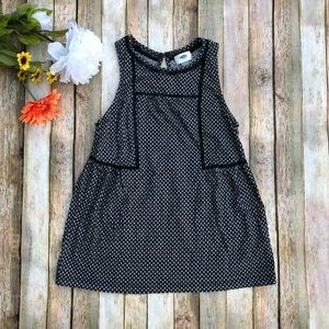 Old Navy crew neck loose fit black and white tank